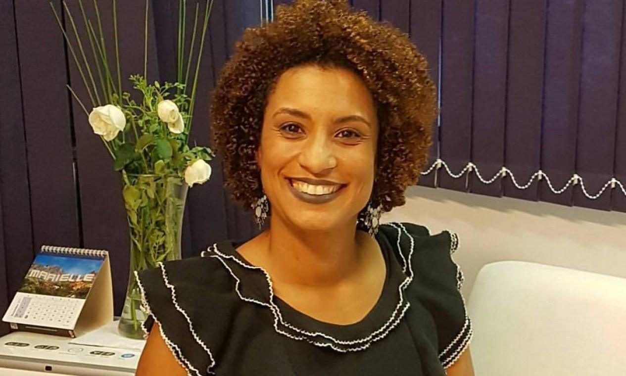 Marielle Franco se elegeu em 2016 com um resultado expressivo não só pela quantidade de votos — foi a quinta mais bem votada, com o apoio de 46 mil eleitores Foto: Reprodução do Facebook / Reprodução do Facebook