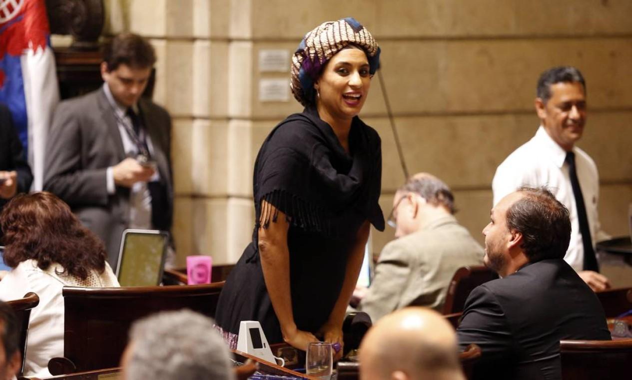 Marielle Franco foi assessora parlamentar do deputado estadual Marcelo Freixo, seu colega no PSOL, até se eleger para o Legislativo municipal há dois anos Foto: Marcos de Paula / Agência O Globo