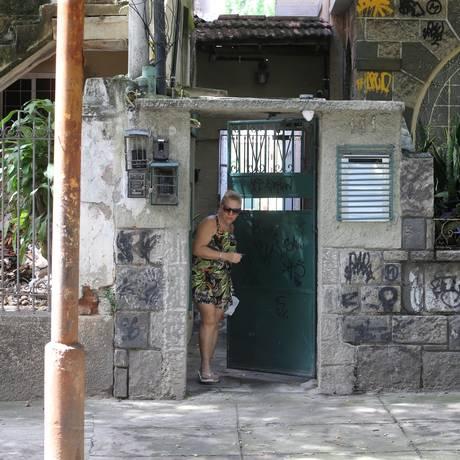 Entrada da vila onde Mirelle Franco morava na Tijuca Foto: Guilherme Pinto / Agência O Globo