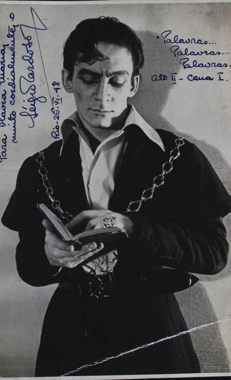 Sérgio Cardoso, o personagem título da montagem de 'Hamlet': outro estreante consagrado no espetáculo Foto: Acervo Sergio Britto - Cedoc Funarte