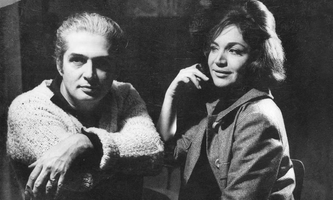 Sergio Britto e Nathalia Timberg em 'Meu Querido Mentiroso', de 1964, no Teatro Carioca Foto: Acervo Sergio Britto - Cedoc Funarte