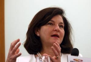A procuradora-geral da República, Raquel Dodge, durante evento em Brasília Foto: Givaldo Barbosa/Agência O Globo/14-03-2018