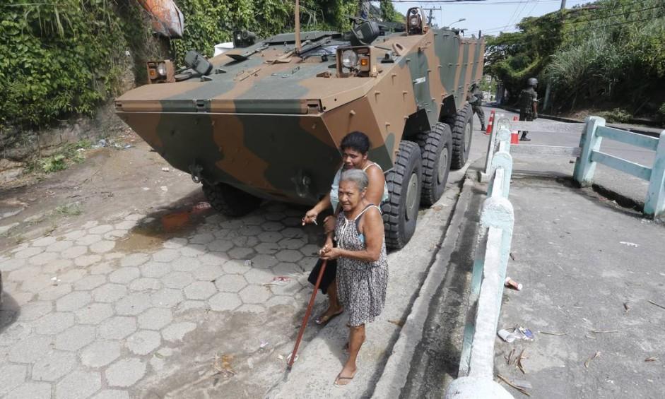 Rio, 15/03/2018, Intervenção / Operação Militar - Militares das Forças Armadas e da Polícia Militar fazem operação em Santa Rosa em Niterói. Foto: Antonio Scorza Foto: Antonio Scorza / Antonio Scorza