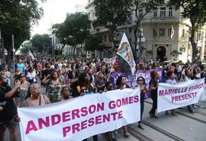 Multidão ocupa Câmara dos Vereadores do Rio em homenagem a Marielle Franco Foto: Pedro Teixeira / Agência O Globo
