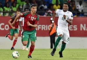 Dirar é um dos mais experientes da seleção marroquina Foto: ISSOUF SANOGO/AFP/24-1-2017 / Agência O Globo