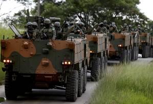 Intervenção federal na Segurança Pública do Rio de Janeiro Foto: Marcelo Theobald / Agência O Globo