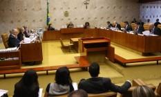 Plenário do Supremo Tribunal Federal Foto: Ailton de Freitas/Agência O Globo/14-03-2018
