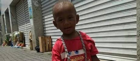 Benjamin de dois anos morto com tiro na cabela no Complexo do Alemão Foto: Reprodução