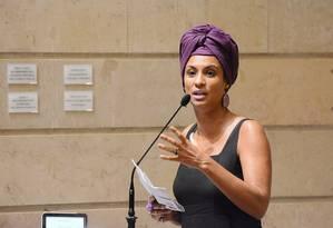 A vereadora Marielle Franco (PSOL) Foto: Renan Olaz / Divulgação / CMRJ