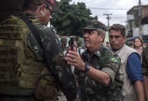 General Braga Neto não comentou sobre a execução da vereadora Marielle Franco Foto: MAURO PIMENTEL / AFP