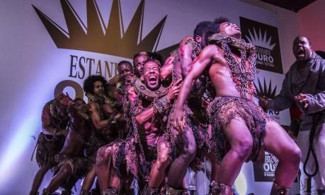 Comissão de frente da Tuiuti, vencedora com Patrick Carvalho Foto: Hermes de Paula / Agência O Globo