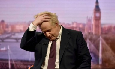 Ministro britânico das Relações exteriores, Boris Johnson deu entrevista este domingo, dia 18, ao programa de Andrew Marr na rede de televisão BBC Foto: HANDOUT / REUTERS