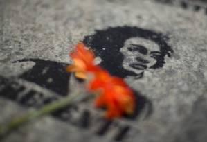 Homenagem a Marielle Franco na fachada da Câmara dos Vereadores, no Rio Foto: Márcia Foletto / Agência O Globo