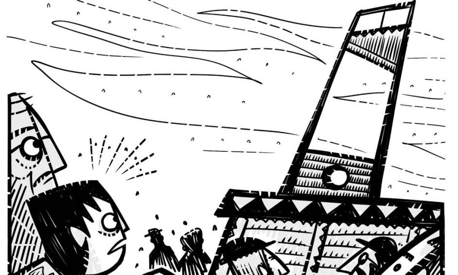 """Adaptação para os quadrinhos de """"O idiota"""", o álbum que o selo Quadrinhos na Cia lança no início de abril traz o clássico de Fiódor Dostoiévski (1821-1881) traduzido no estilo duro, seco e cortante de André Diniz Foto: Reprodução"""