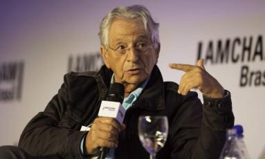 Fernando Gabeira em evento na Câmara Americana de Comércio, no ano passado Foto: Bruno Rocha/Fotoarena / Bruno Rocha/Fotoarena