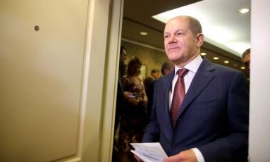 Olaf Scholz, ministro das Finanças da Alemanha Foto: AGUSTIN MARCARIAN / REUTERS