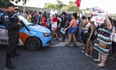 Grupo chegou a ocupar a ocupar Linha Amarela e pista lateral da Avenida Brasil Foto: Bárbara Lopes