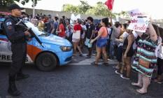 Grupo chegou aa ocupar Linha Amarela e pista lateral da Avenida Brasil Foto: Bárbara Lopes