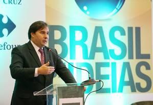 Rodrigo Maia em evento no Copacabana Palace Foto: Guilherme Pinto / Agência O Globo
