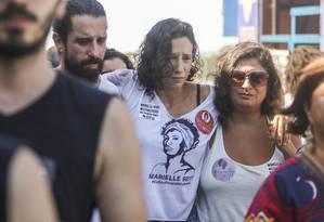 Monica no protesto no Centro da cidade Foto: Bárbara Lopes / Agência O Globo