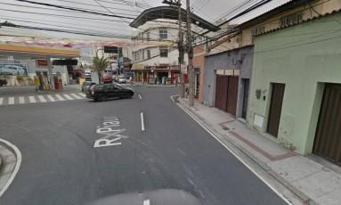 Trecho da Rua Piauí onde ocorreu o confronto Foto: Google Street View / Reprodução