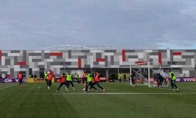 Seleção brasileira treina em Moscou Foto: Bernardo Mello