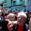 O ex-presidente Lula começou em Bagé (RS) uma caravana pelo sul do país Foto: DIEGO VARA / REUTERS