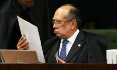 O ministro Gilmar Mendes, durante sessão da Segunda Turma do STF Foto: Givaldo Barbosa/Agência O Globo/03-03-2018