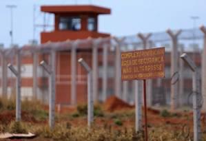 Penitenciária fica ao lado do Complexo da Papuda, em Brasília Foto: Jorge William/Agência O Globo/04-10-2017