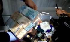 Dinheiro encontrado na casa do monsenhor Epitásio Cardozo Foto: Reprodução