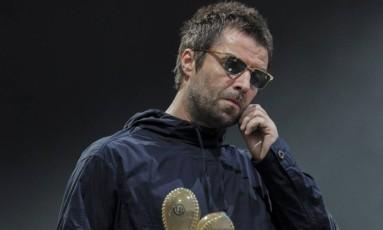 Liam Gallagher antes de abandonar a apresentação no Lollapalooza Chile Foto: Carlos Muller / Divulgação