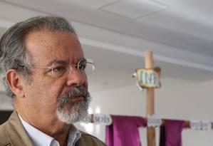 O ministro da Segurança Pública, Raul Jungmann, durante encontro com o secretário-geral da CNBB, Leonardo Steng Foto: Ailton de Freitas/Agência O Globo/16-03-2018