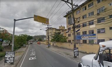 Rua onde ocorreu o incêndio em Campo Grande, na Zona Oeste Foto: Reprodução/Google Maps