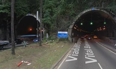 O Túnel Rebouças Foto: Google Street View / Reprodução
