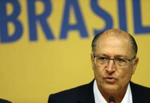 O governador de São Paulo, Geraldo Alckmin (PSDB), durante evento em Brasília 07/02/2018 Foto: Jorge William / Agência O Globo