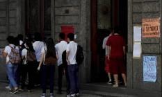 Há um ano, alunos do Pedro II ocuparam escola contra a reforma do Ensino Médio Foto: Agência O GLOBO