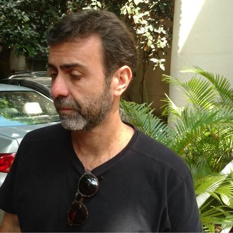 Marcelo Freixo esteve na Delegacia de Homicídios Foto: Geraldo Ribeiro