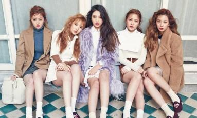 O grupo feminino de K-pop Red Velvet: a caminho da Coreia do Norte Foto: Divulgação