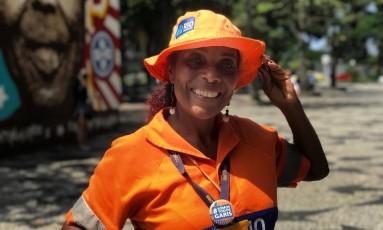Sirlei da Silva, de 54 anos, é gari há 5 anos Foto: Ricardo Rigel / Agência O Globo