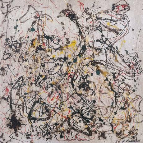 'Nº 16', de Jackson Pollock, no MAM desde 1954 Foto: Divulgação