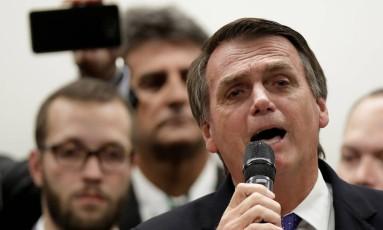 O deputado federal Jair Bolsonaro se filia ao PSL Foto: Ueslei Marcelino/Reuters/07-03-2018