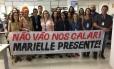 Jornalistas da EBC protestam em Brasília Foto: Reprodução do Facebook
