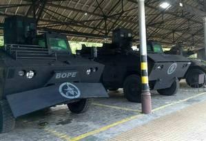 Blindados serão cedidos pelo Exército para a Polícia Militar Foto: Reprodução