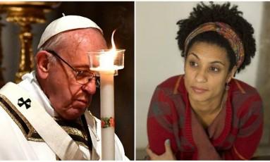 Irmã de Marielle contou que o Papa ligou para sua mãe Foto: Vincenzo Pinto/AFP - Márcia Foletto / Agência O Globo