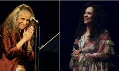 """Maria Bethânia e Gal Costa unem suas vozes na música """"Minha mãe"""" Foto: Infoglobo"""