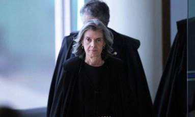 A presidente do STF, ministra Cármen Lúcia Foto: Ailton de Freitas/Agência O Globo/14-03-2018