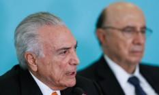 O presidente Michel Temer discursa no Conselhão Foto: Beto Barata/Presidência