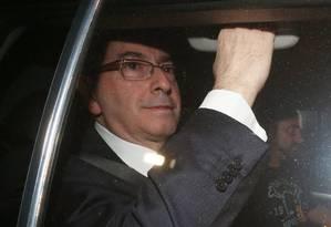 O ex-presidente da Câmara Eduardo Cunha deixa a Justiça Federal após participar de depoimento Foto: Ailton de Freitas / Agência O Globo
