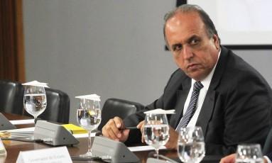 O governador do Rio, Luiz Fernando Pezão, participa de reunião no Palácio do Planalto Foto: Ailton de Freitas/Agência O Globo/01-03-2018