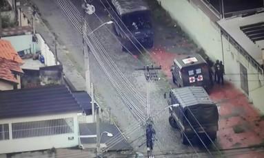 Operação na Vila Vintém Foto: Reprodução/TV Globo